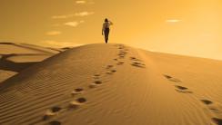 Man In Desert Wallpaper HD Widesreen