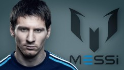 Logo And Font Lionel Messi Photo Wallpaper Free