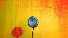 Poppy Field Abstract Art Zachary Brown Art