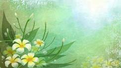 Beautiful 3D Abstract Vector Flower Green Wallpaper Free