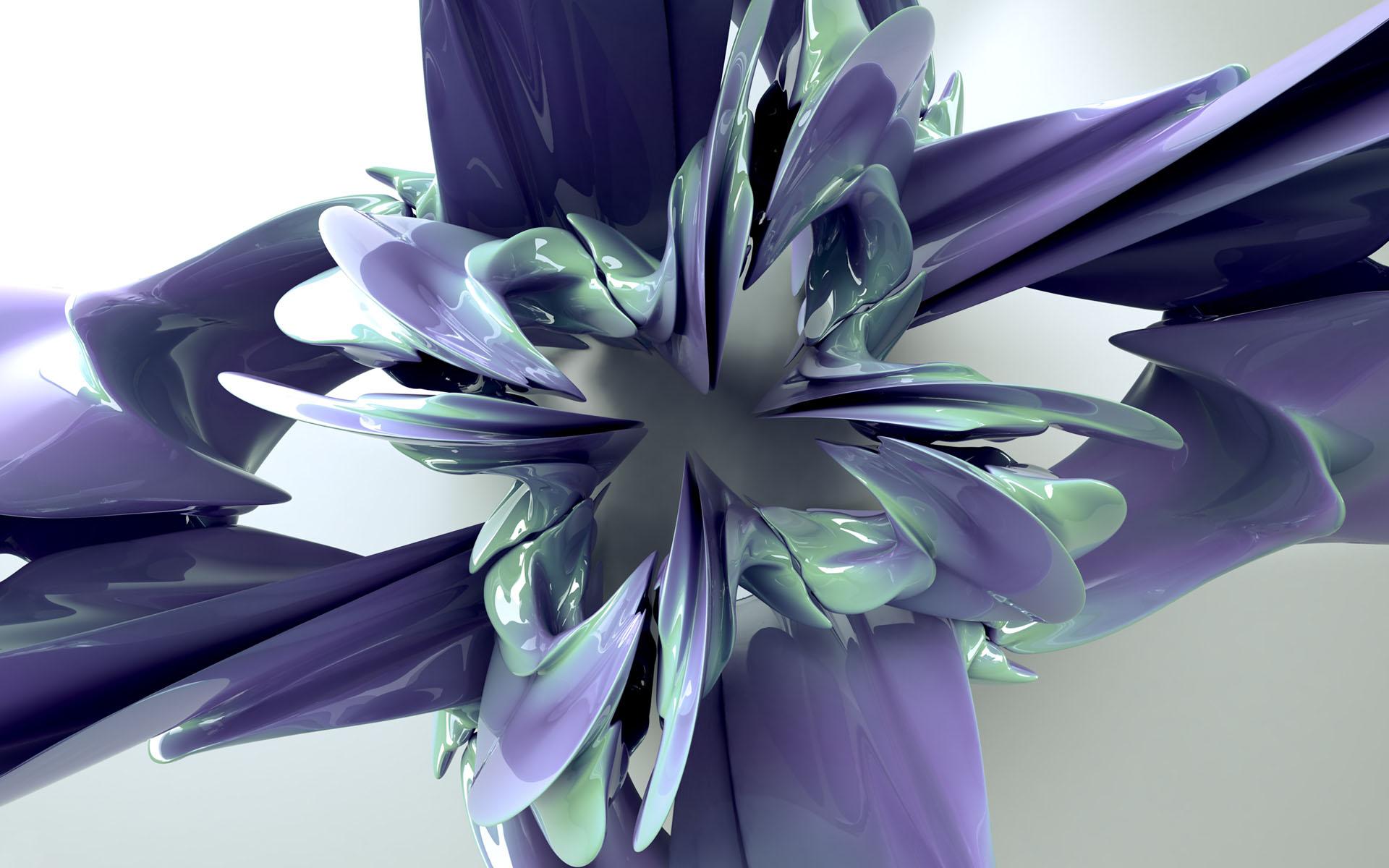 3d abstract flower fantasy wallpaper hd desktop gallery - Flower wallpaper 3d pic ...