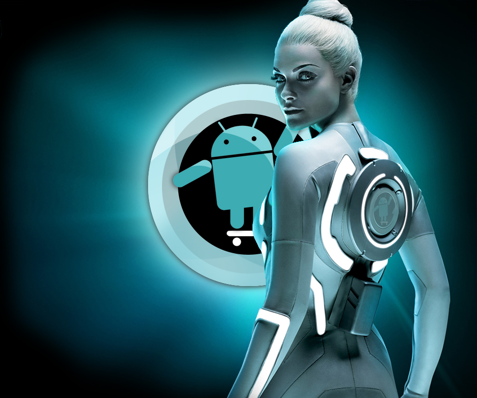 Cyanogenmod Wallpaper: CyanogenMod Tron 3D Android Wallpaper Best Android
