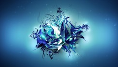Amazing Abstract Blue Flower 3D Wallpaper Free Download