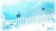 Download Aqua Flower Dreamer White Blue Wallpaper