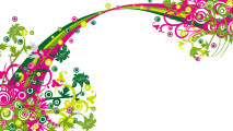 Title Abstract Wallpaper Flower Ornament Colorful Free Download