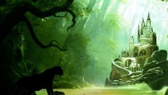Fantasy Castle Green Color Abstract Animal Picture Image