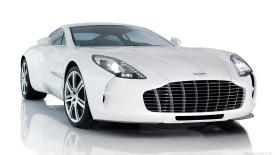 Aston Martin One 77 White Color Wallpaper HD Photo Image