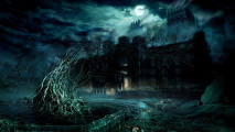 Awesome Home Dark Horror Game Scene HD Wallpaper