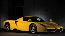 Amazing Yellow Ferrari Enzo HD Wallpaper Widescreen