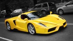 Ferrari Enzo Yellow Color Wallpaper HD WIdescreen