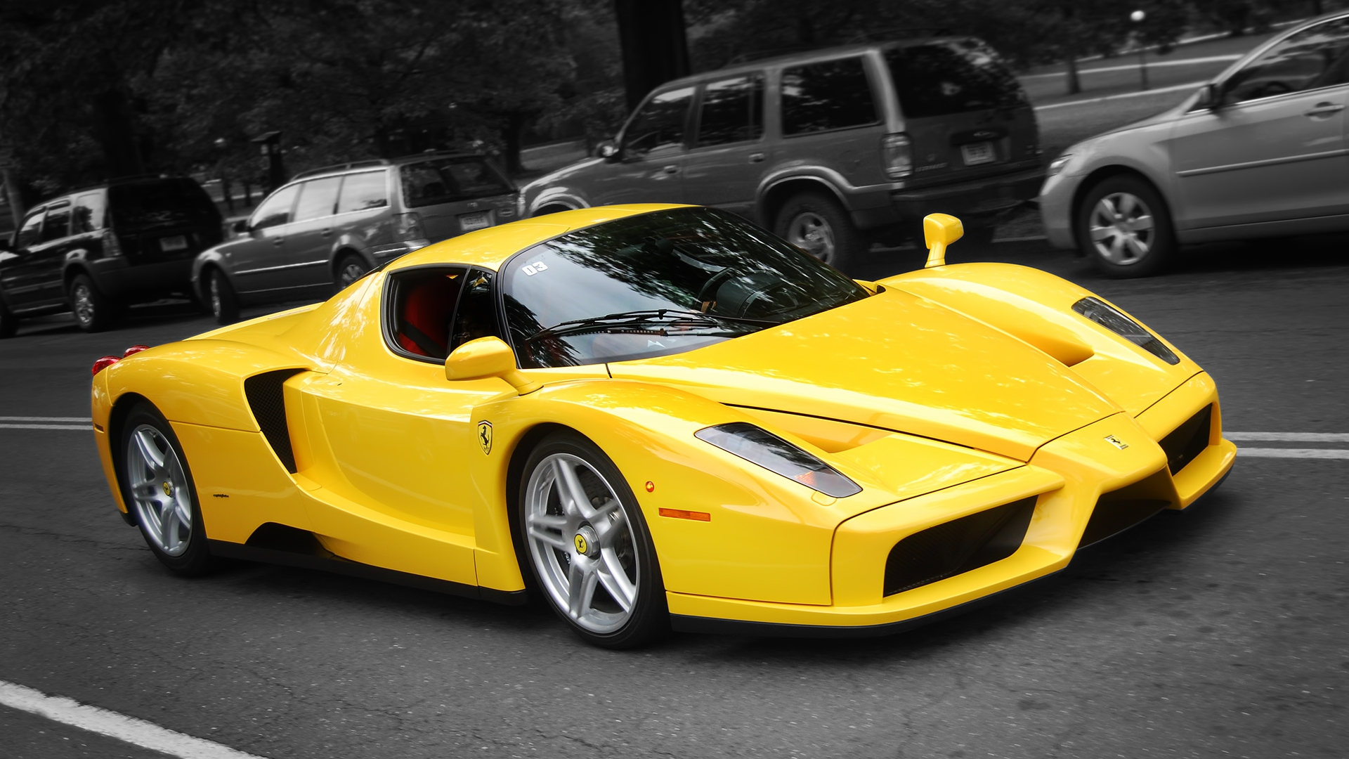 Ferrari Enzo Yellow Color Wallpaper Hd Widescreen