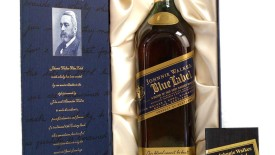 Whisky Johnnie Walker Blue Label Alcohol Drink And Box Photo Picture