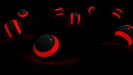 Black And Red Ball Abstract Wallpaper HD For Your PC Desktop