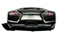 Black Lamborghini Reventon Looks Back HD Wallpapers Image