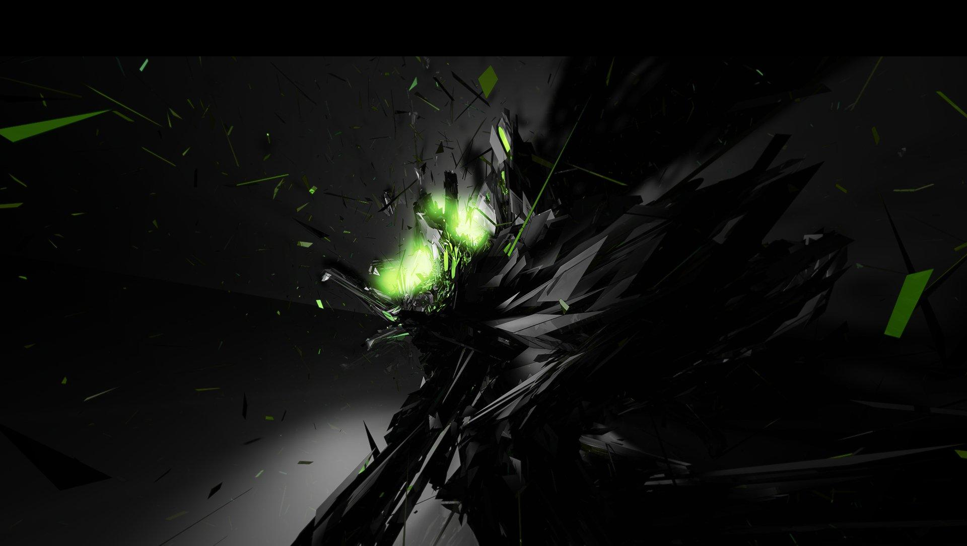 Dark Green Abstract Design HD Wallpaper For Your PC ...Green Abstract Wallpaper Hd