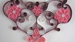 Beautiful Art Paper Love Pink Flower Photo Image