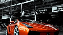 Beuatiful Orange Lamborghini Reventon Photo HD Wallpaper
