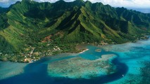 Beautiful Aerial Photography View Of Moorea Island French Polynesia