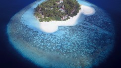 Aerial Photography View Of A Tropical Island Maldives HD Wallpaper