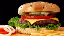 Exclusive And Delicious Big Burger Food Photgraphy HD Wallpaper