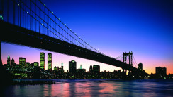 Amazing City Night Bridge Scene Photography Picture Desktop HD Wallpaper