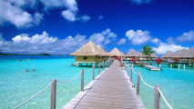 Beautiful Matira Point Bora Bora French Polynesia HD Wallpaper Photography