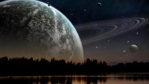 Clear Night HD Wallpaper Cloudy Night Photography Drawn Night Picture