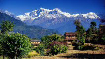 Awesome Village In Gandaki Annapurna Range Nepal Wallpaper And Photo