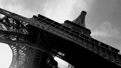 Eiffel Tower Architecture Photography Black And White HD Wallpaper