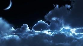 Cloudy Night Sky Wallpaper HD Widescreen For Your PC Desktop