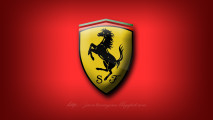 Ferrari Logo Red Automotiv Wallpaper HD Widescreen Free Download
