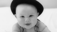 Cute Black White Baby Child Photography Picture Wallpaper