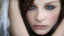 Beautiful Girl Blue Eye Portrait Photography HD Wallpaper Picture
