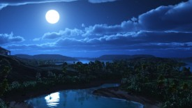 Beautiful White Moon Night Photography Picture Image HD Wallpaper