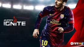 Lionel Messi On FIFA 14 EA Sports Ignite Picture Image HD Wallpapers