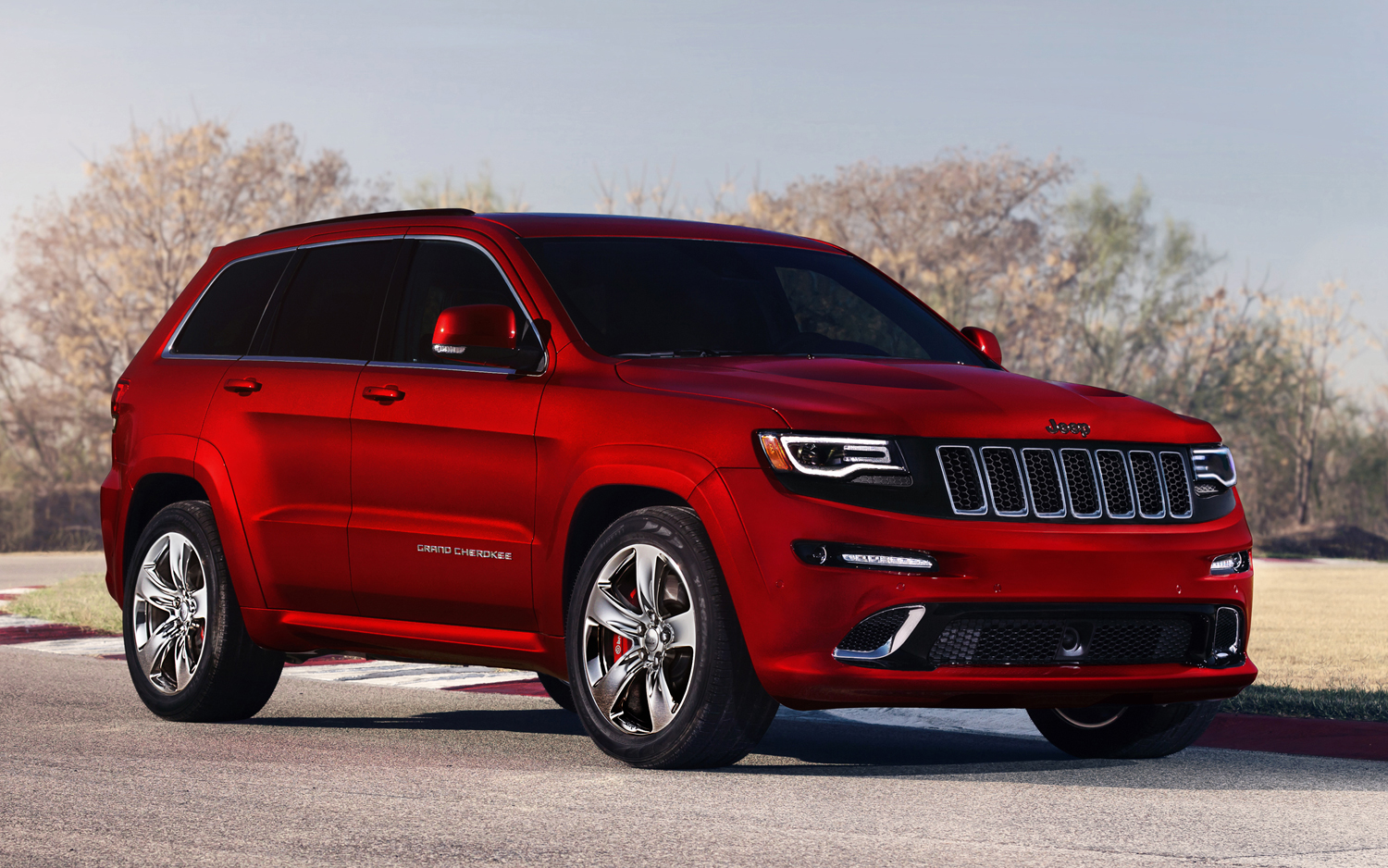 2014 jeep grand cherokee srt red color photo picture image. Black Bedroom Furniture Sets. Home Design Ideas