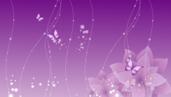 Purple Flowers Abstract Design HD Wallpaper Picture For PC Desktop