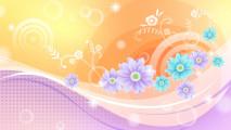 Abstract Flowers Cloroful Design Wallpapers HD Widescreen For Desktop