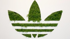 Fantastic Adidas Green Logo And White Backgoround HD Wallpaper Desktop