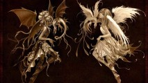 Anime Angel And Demon HD Wallpaper Background Widescreen Desktop