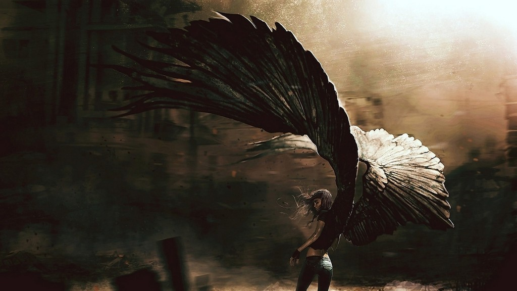 anime fallen angel image picture hd wallpaper free