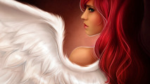 Angel Red Hair HD Wallpaper Background Picture Image For PC Desktop