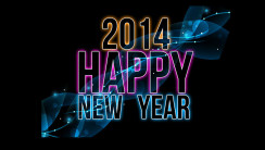 Colorful Font Happy New Year 2014 HD Wallpaper Background Image