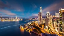 Hong Kong When Night Come Wallpaper HD Widescreen For PC Desktop