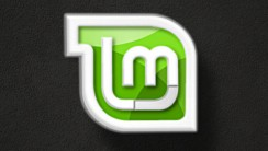 Linux Mint Logo With Black Background Wallpaper Widescreen Free