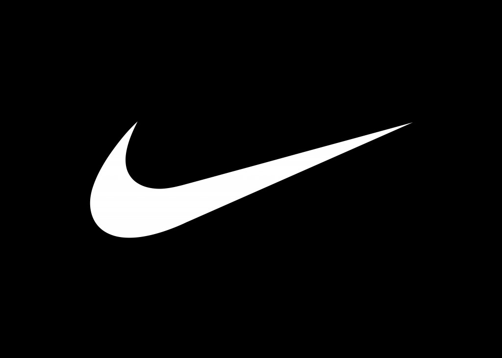 White And Black Nike Logo High Resolution In HD Wallpaper ...