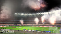 Smoke Bomb At Stadium Only On PES 2014 HD Wallpaper Image Desktop