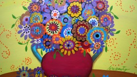 Floral Blooms Original Paintings Flower Colorful Picture Image HD Wallpaper