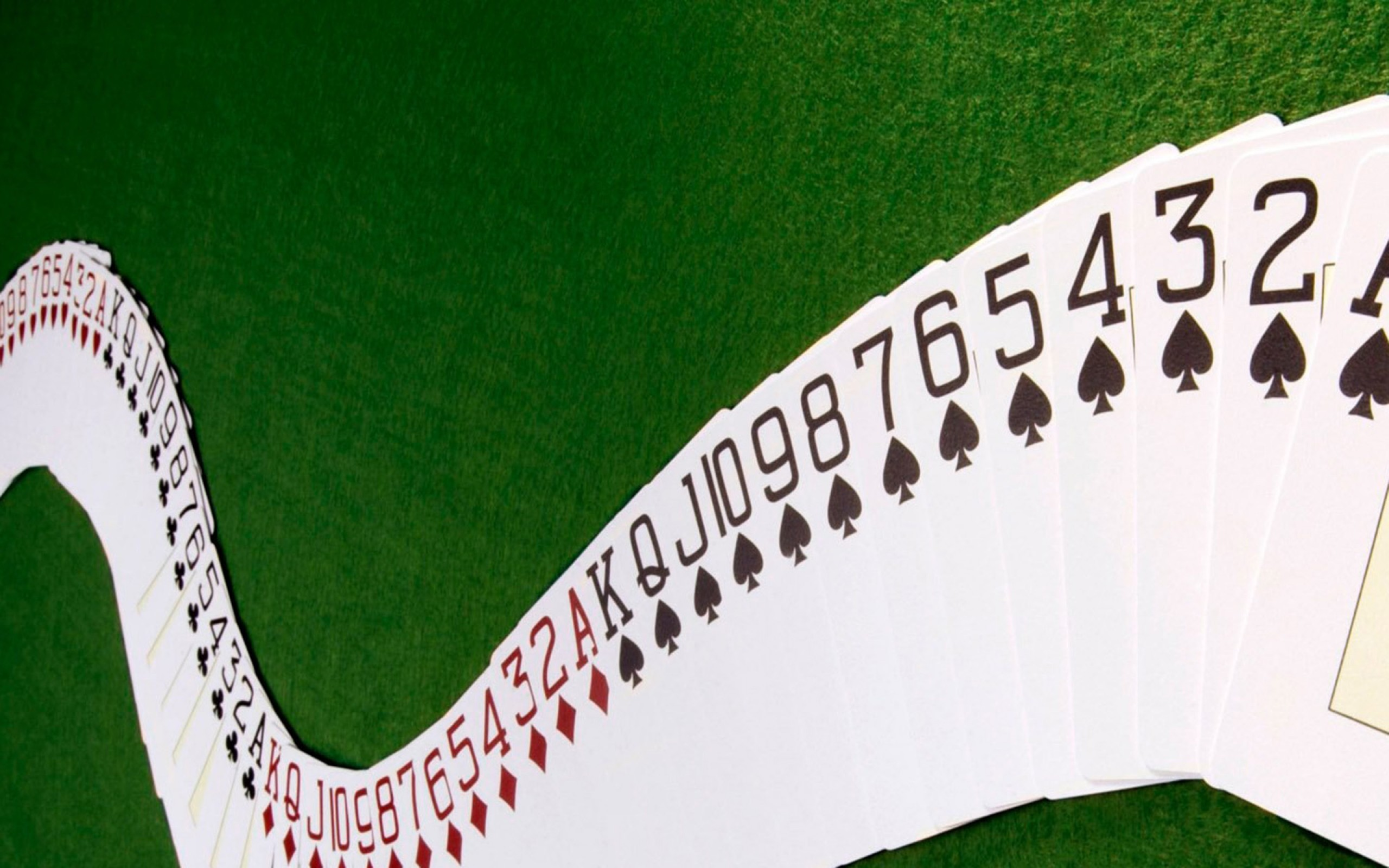 playing cards green background hd wallpaper picture image