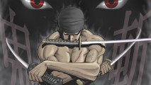 One Piece Roronoa Zoro Scary Eyes HD Wallpaper Widescreen Desktop